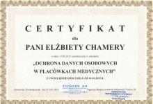 certyfikat-elżbieta-chamera