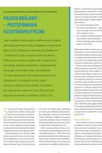 Paluch koślawy postępowanie fizjoterapeutyczne