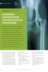 Postępowanie fizjoterapeutyczne u pacjentki z dysplazja wielonasadową