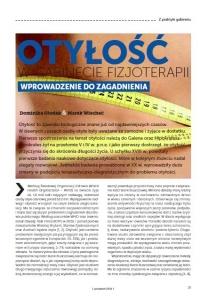 Otyłość w gabinecie fizjoterapii - wprowadzenie do zagadnienia